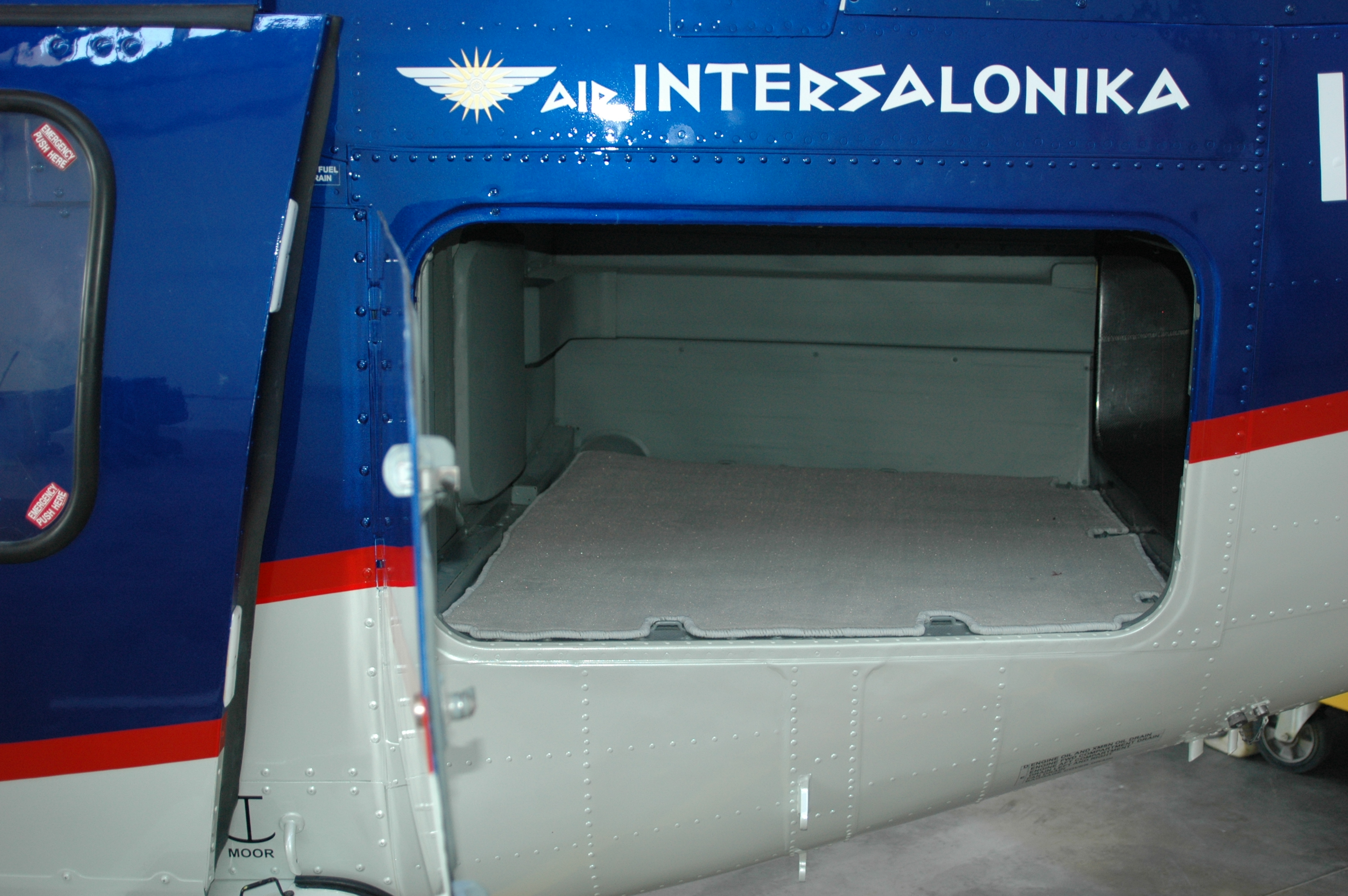 VIP Air Intersalonika Helicopter Fleet - AS355N - Luggage compartment