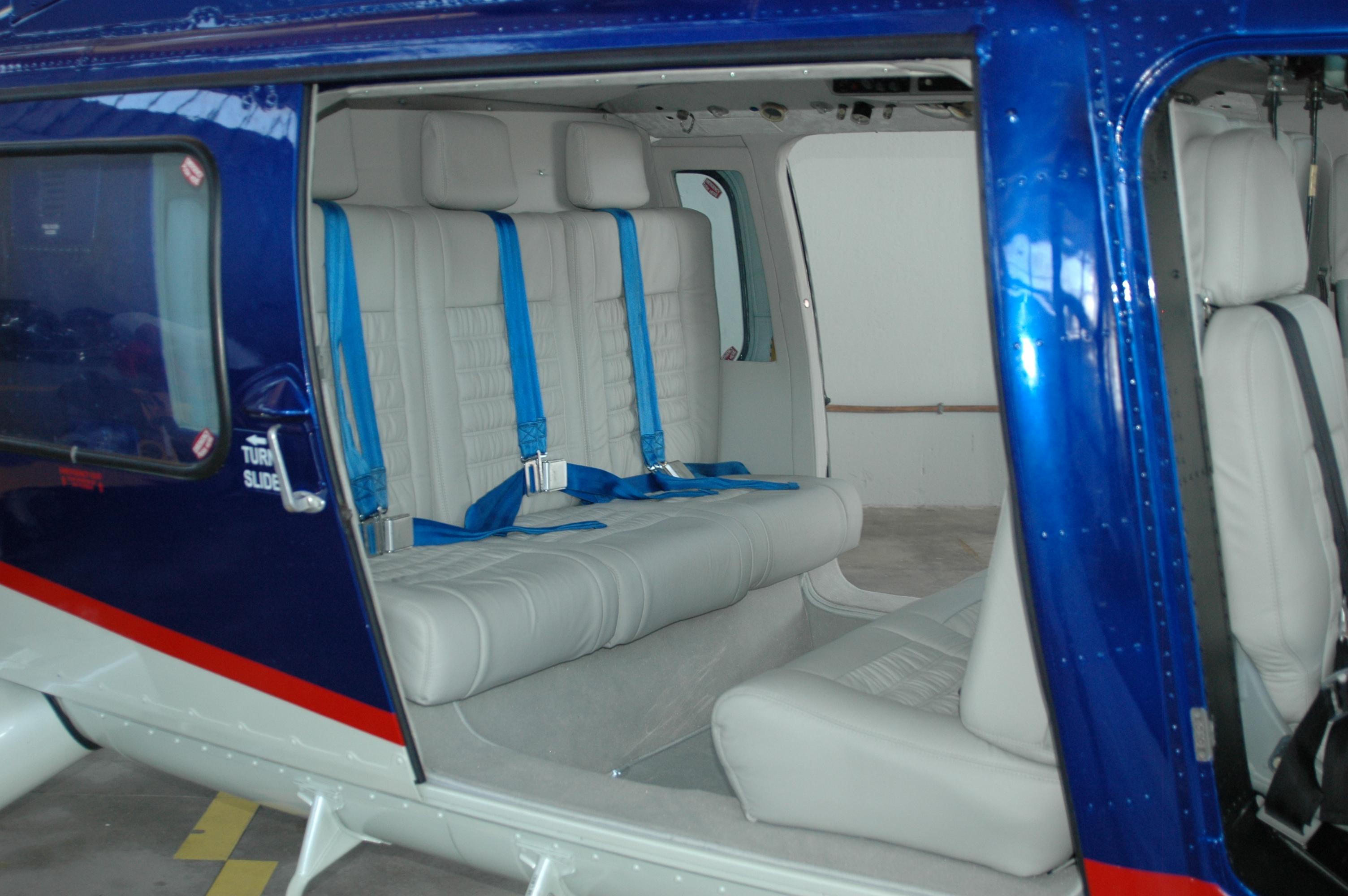 VIP Air Intersalonika Helicopter Fleet - AS355N Inside Seats