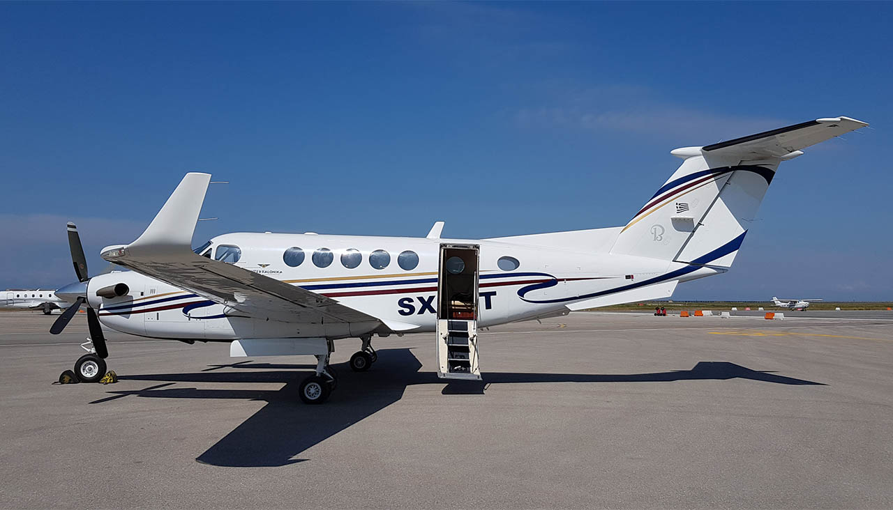 Super King Air B200 VIP Airplane for private flights